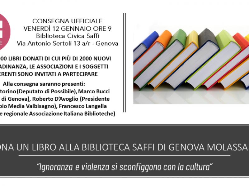 Dona un libro alla Biblioteca Saffi - Consegna Ufficiale