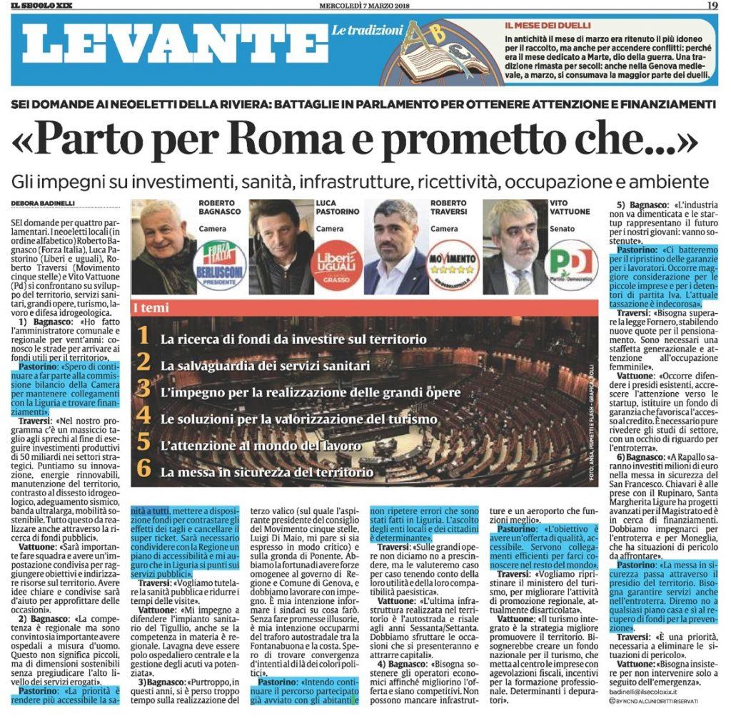 Dalla Liguria a Roma - sei temi